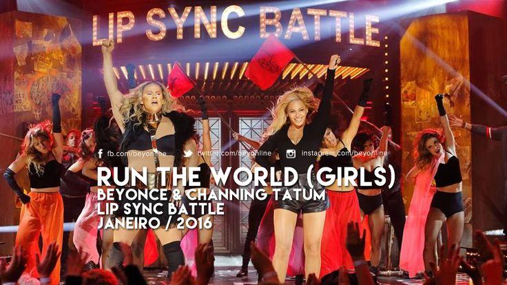 Beyoncé apareceu no Lip Sync Battle durante a performance de ''Run The World'' do Channing Tatum que foi ao ar ontem nos Estados Unidos.  --- Site:…