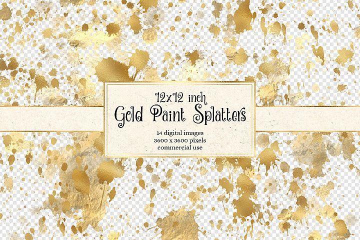 Download 12x12 Gold Paint Splatter Overlays 520568 Illustrations Design Bundles Overlays Gold Paint Watercolor Splash