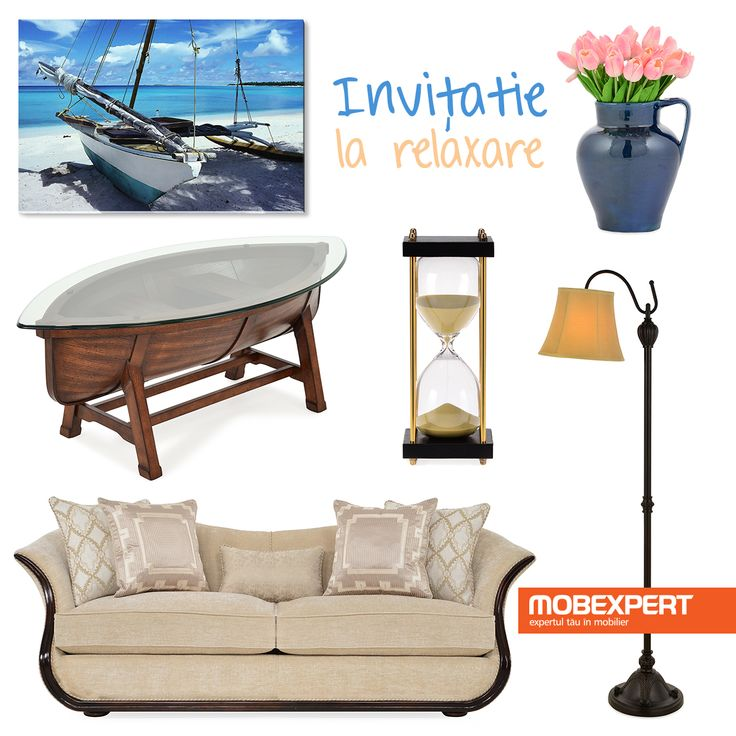 Inspirație pentru după-amiezi liniștite precum o plimbare cu barca într-o zi fără valuri. #moodboard #living #decoideea