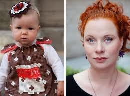 Loru - apron dress and hairband,    Loru - earrings