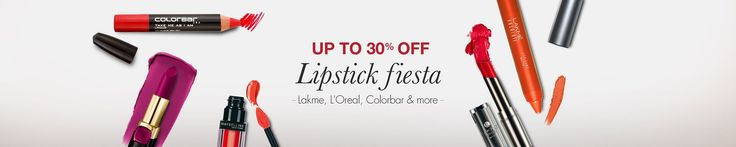 Amazon India brings to all a wonderful offer, where you get up to 30% off on beautiful and branded lipsticks. You can pick from various types of lip products such as lipsticks, Lip gloss, Lip care and lip liner. You can pick all of these from various brands such as Maybelline, Loreal, Lakme and many ...