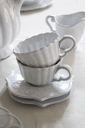 White teacup & socer
