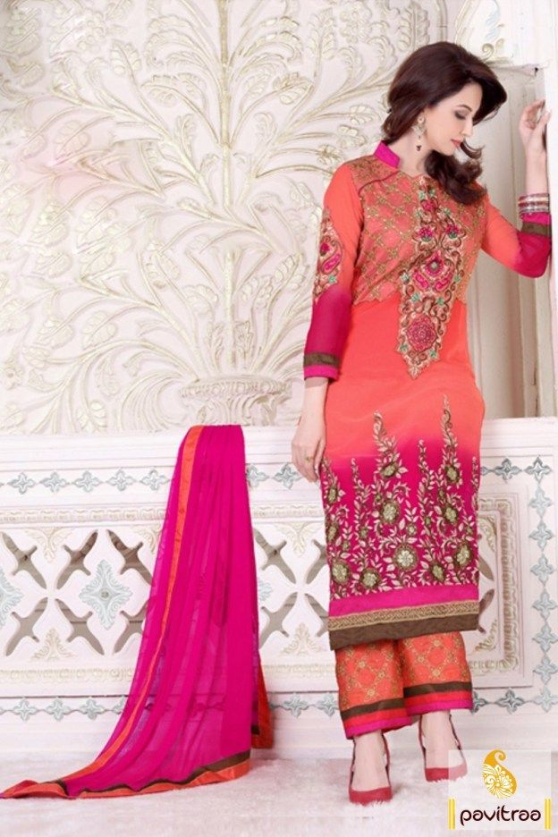 The new age memories princess with this beautiful gajri pink georgette palazzo salwar kameez online shopping with cheap rate. Buy trendy Pakistani salwar kameez 2016 online collection at affordable prices. #salwarsuit, #salwarkameez, #dresses, #palazzosuit, #pakistani, #wedding, #partywear, #salwarsuitonline, #buysalwarsuit, #bollywood, #designersalwarsuit More : http://www.pavitraa.in/store/bollywood-salwar-suit/ Call / WhatsApp : +91-76982-34040  E-mail: info@pavitraa.in