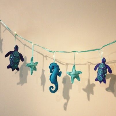 Blue Sea Turtle Fairy Lights