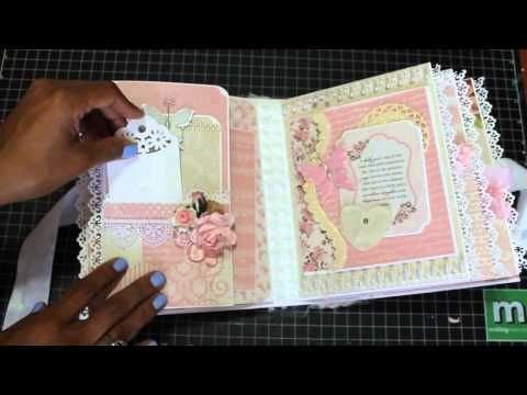 Baby Girl Mini Scrapbook Album August 2015