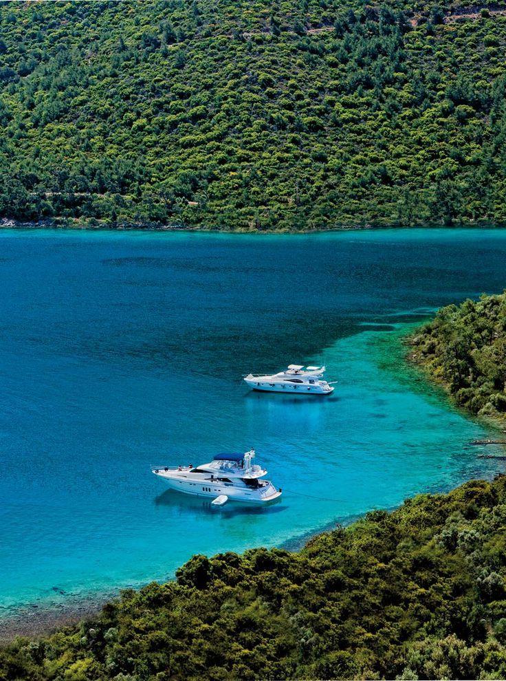 a wonderful bay during blue trip in Bodrum Turkey
