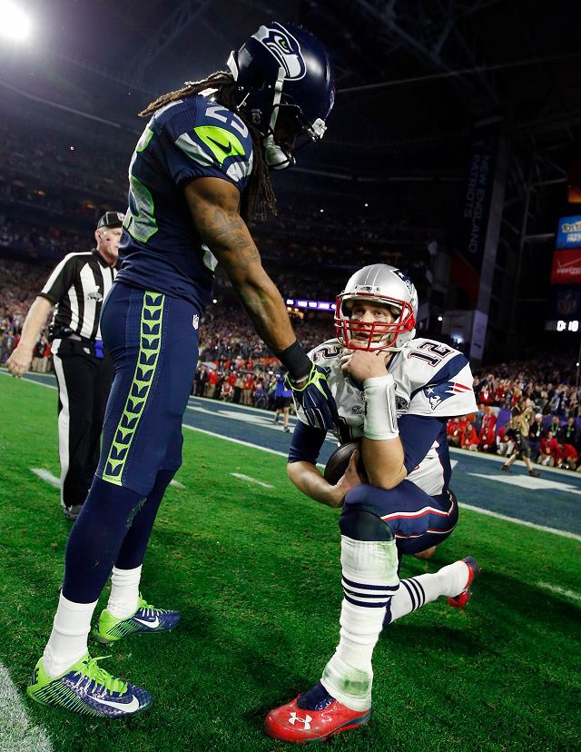 Tom Brady-Richard Sherman Photo On Final Play Sums Up Super Bowl XLIX  Read more at: http://nesn.com/2015/02/photo-of-tom-brady-richard-sherman-on-final-play-sums-up-super-bowl-xlix/
