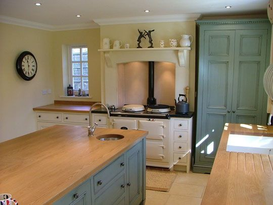 Painted kitchen with cream Aga