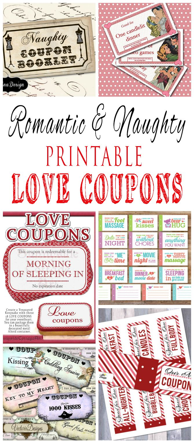 Romantic and naughty printable love coupons for him for Love coupons for him template