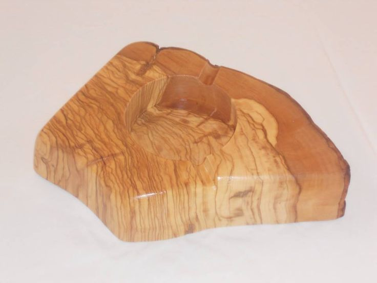 Ashtray from olive wood