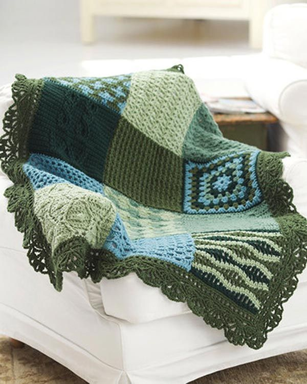 Best Free Crochet » Free Crochet Pattern Sampler Afghan From RedHeart.com