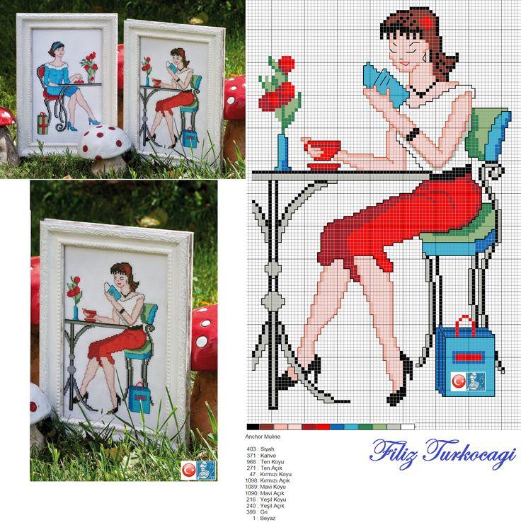 ( Desen 2) Designed and stitched by Filiz Türkocağı...