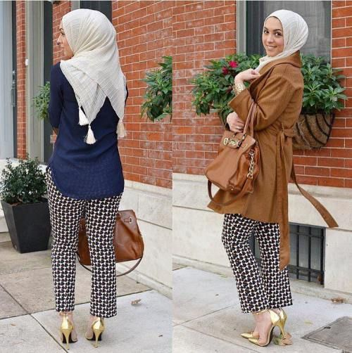 chic hijab style, Fall stylish hijab street looks http://www.justtrendygirls.com/fall-stylish-hijab-street-looks/