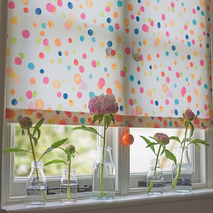 See Dorothy Our Spot Dot Decorative Roller Blind Blind Print For Bathrooms,  Kitchens Or Teenage Bedrooms. Free Fabric Samples And Find Your Local Blind  ...