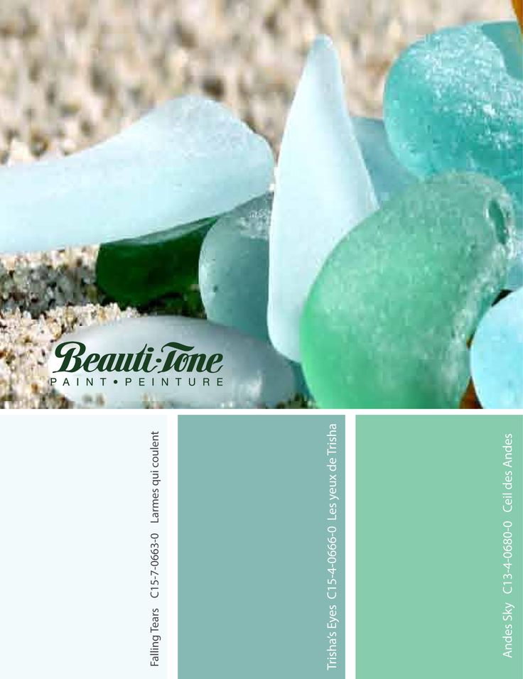 These #BeautiTone #colours provide a great beach feel with a soft sea glass palette.