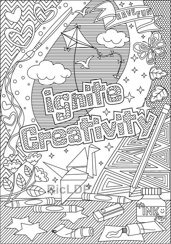 Four Positive Vibe Coloring Pages - Spread Good Vibes - On a Mission ...