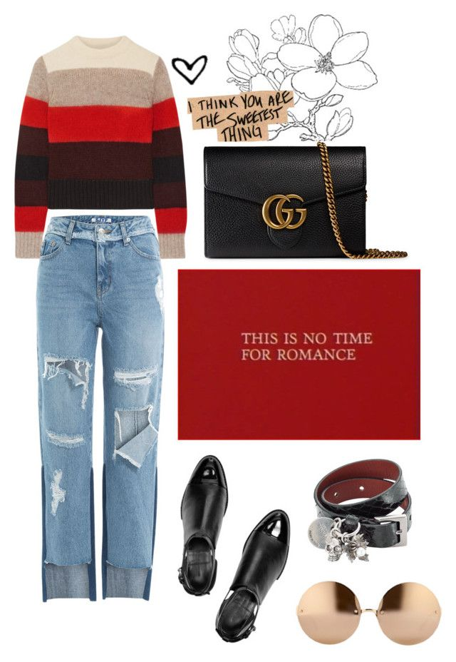 """shades of love"" by dibanayeri ❤ liked on Polyvore featuring Alexander Wang, rag & bone, SJYP, Linda Farrow, Alexander McQueen and Gucci"