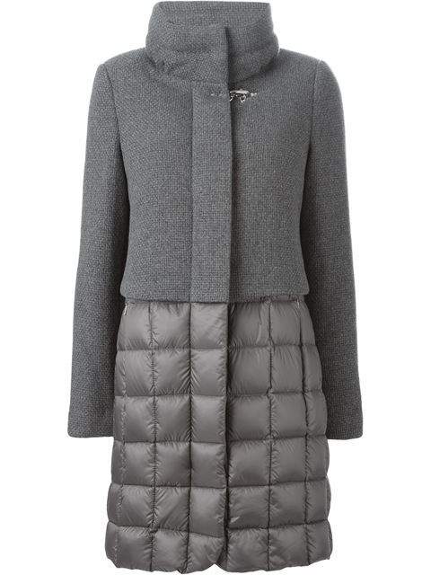 Fay panelled padded coat in Eraldo