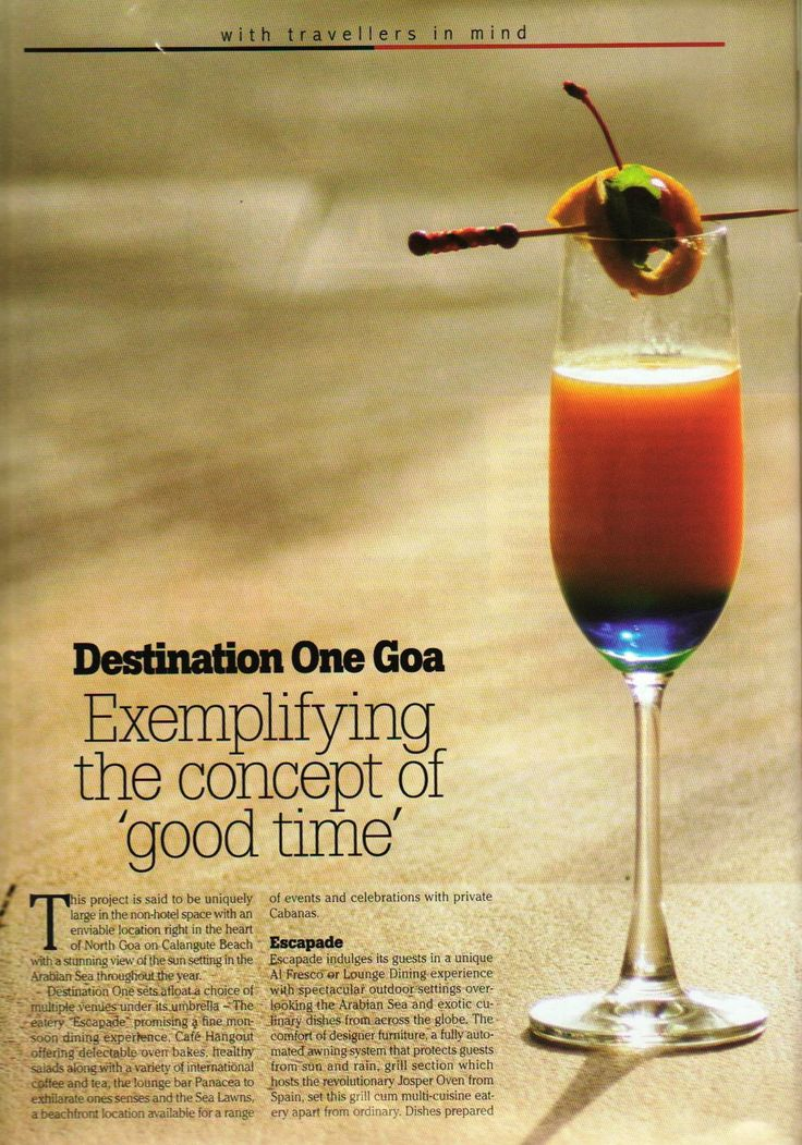 Destination One, #Goa featured in GO NOW, a leading #travel magazine, October 2014. Page (1/2)