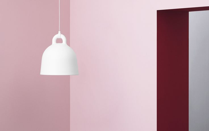 The industrial Bell lamp in all white