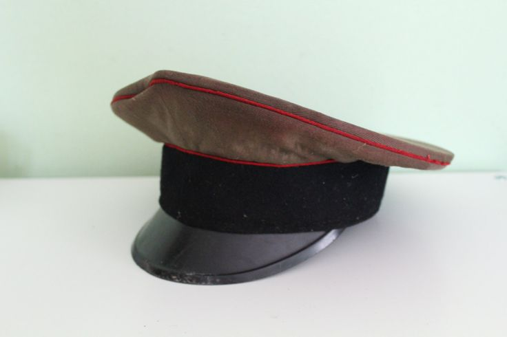 USSR Russian Soviet Border Patrol Officer's Visor Hat Cap Red Army by Grandchildattic on Etsy
