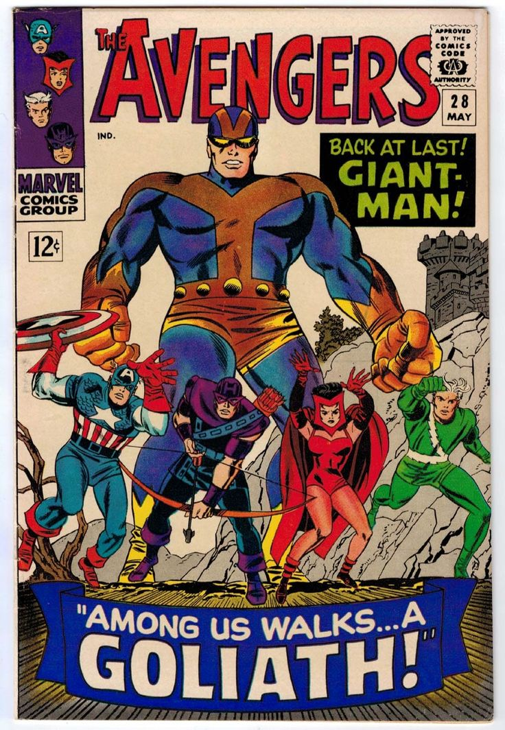 The Avengers #28, cover by Jack Kirby