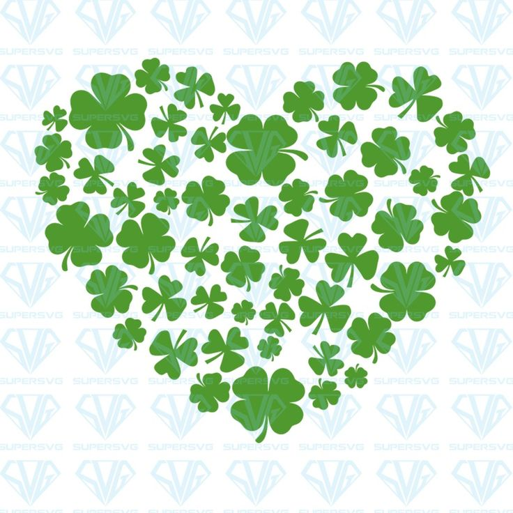 Download Heart Of Shamrocks St Patrick's Day SVG Files For ...