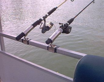 Pontoon boat fishing rod holders