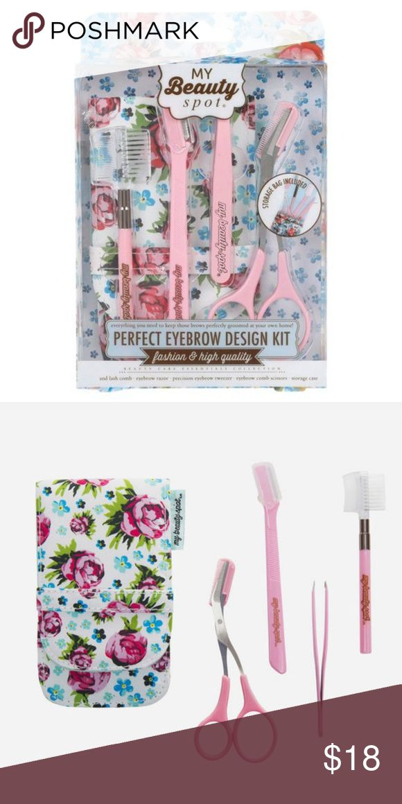 MY BEAUTY SPOT Perfect Eyebrow Design Kit Pink NEW…