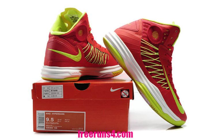 Cheap Lunar Hyperdunk University Red Atomic Green White 535359 106  Basketball Shoes Sale 2013 Outlet