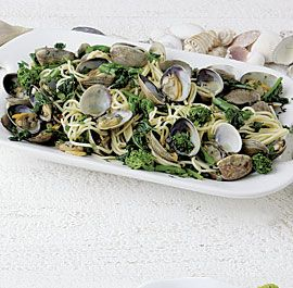 Pasta with Clams, Broccoli Raab, and Chile #quick #easy #recipe #30min