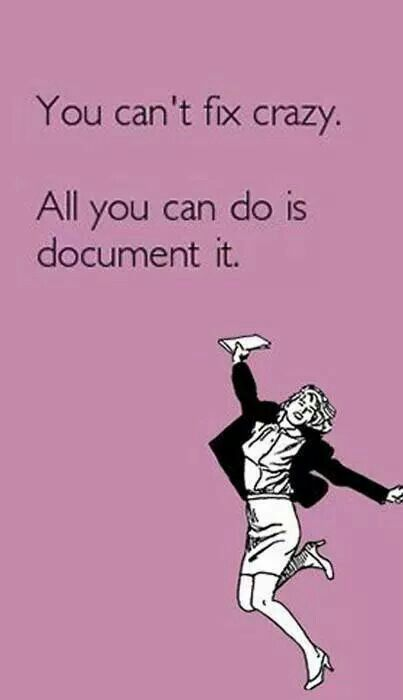 Document it. A recovery from narcissistic sociopath relationship abuse.