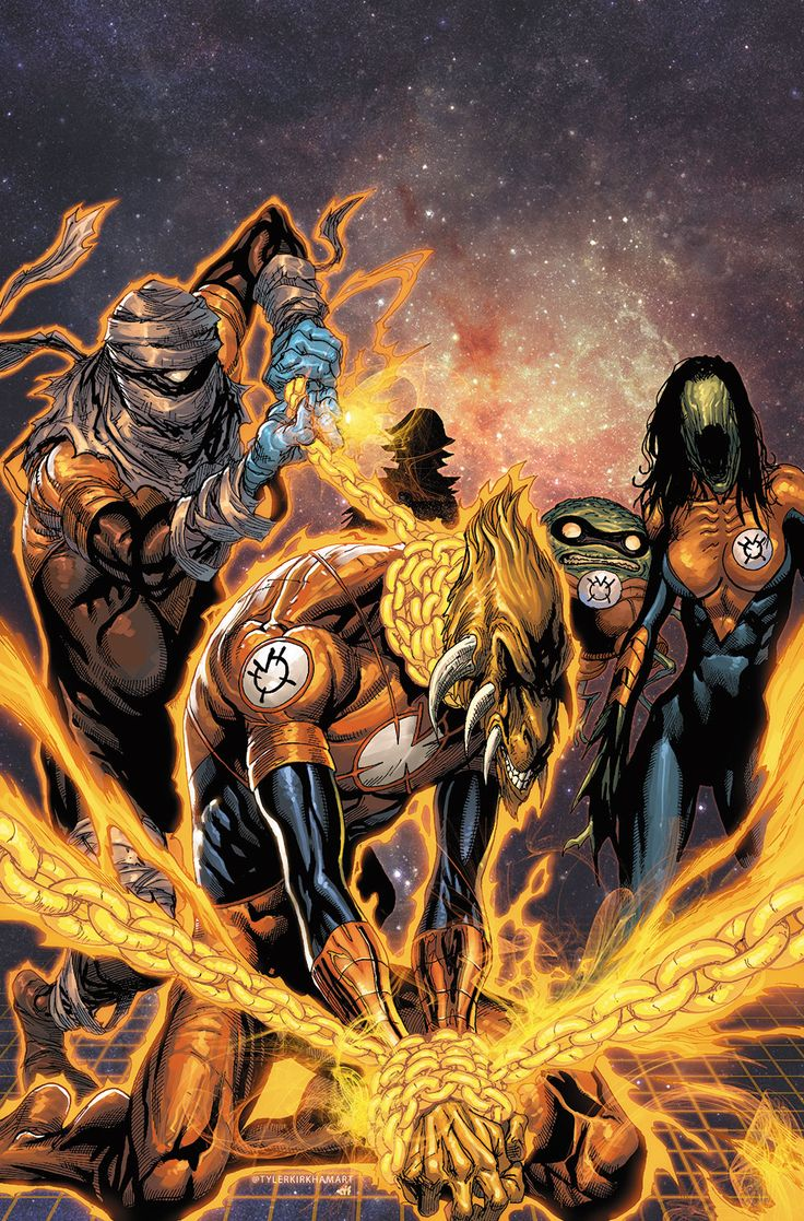 Some days are good days.  Others, not so good.  Orange Lantern - Larfleeze by Tyler Kirkham *