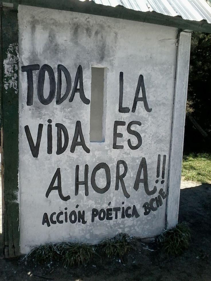 Toda la vida es ahora !! #Acción Poética Bariloche #calle