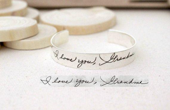 FLASH SALE 20% OFF Handwriting Cuff Bracelet by CaitlynMinimalist