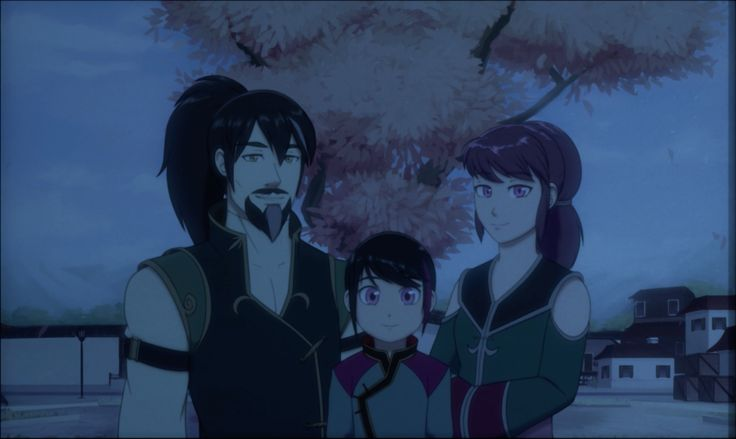 Lie Family Portrait. Such a contrast to the Schnee one don't you think? Update: Upon further info (I.e Staff Credits) The Official names Ren's parents are: An Ren (Mother) and Li Ren (Father)