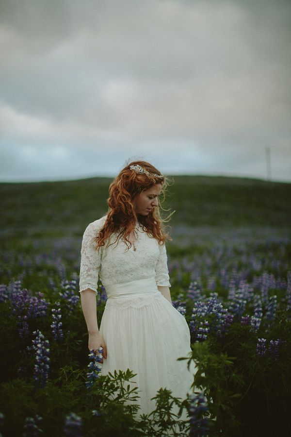 J. Crew wedding dress and a Monique Lhuillier lace jacket for this bride and her wedding in Iceland.  A First Look, J Crew Gown And Dramatic Icelandic Landscapes.  Photography by http://www.levitijerina.com/