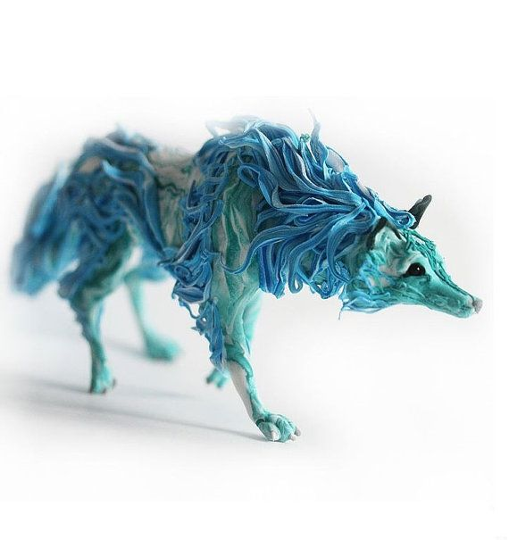 "The figure of a wolf,turquoise wolf,wolf ""living water"",wolg figurine,wolf sculpture,wolf statuette"