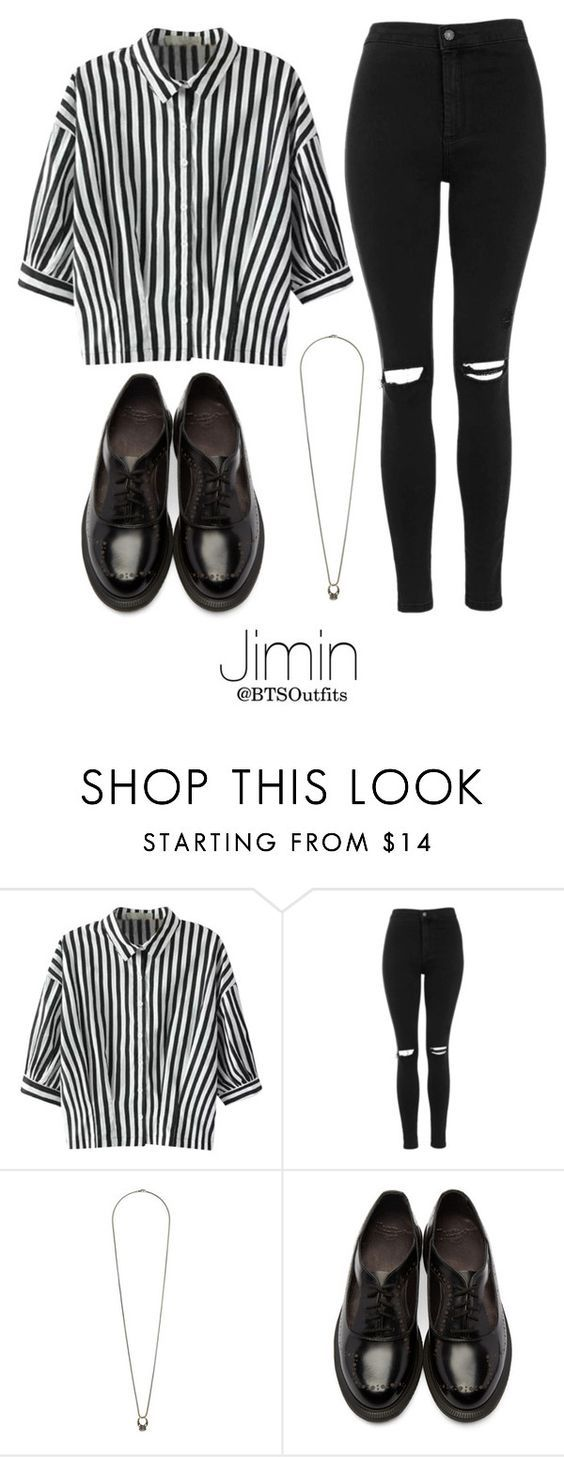 """""""Young Forever Inspired: Jimin"""" by btsoutfits ❤ liked on Polyvore featuring Relaxfeel, Topshop and Dr. Martens"""