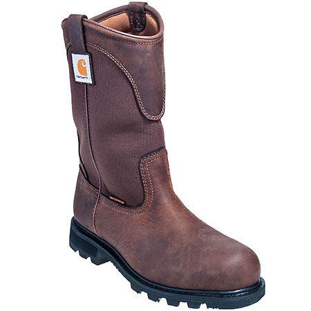 Carhartt Boots Men's Brown CMP1220 Steel Toe Wellington Work Boots