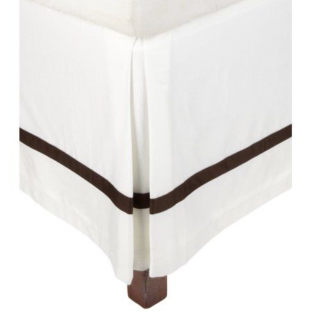 Impressions 300 Thread Count Cotton Hotel Collection Bed Skirt - Queen - White-Choco, White