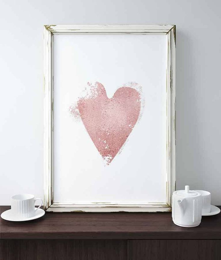 Rose Gold Heart Print Pink Wall Art Love Heart Art Rose Gold Decor Nursery Party Wedding Sign Home Decor Gift For Her Affiche Scandinave by Ikonolexi on Etsy