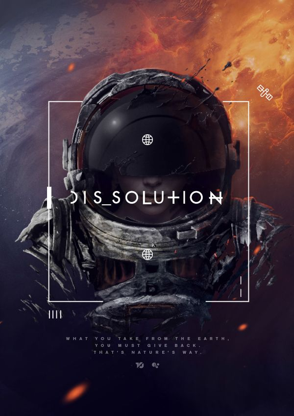 Cool Graphic Design, DIS SOLU+ION. #graphicdesign #poster [http://www.pinterest.com/alfredchong/]