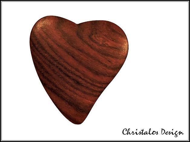 Mopane Wood Gitarrenplektrum Plektrum Holzplek  Mopane Wood Gitarrenplektrum Plektrum (Original Foto)  Gitarren Plektrum aus Mopane-Holz  Maße 32x29 mm, Stärke ca.4mm