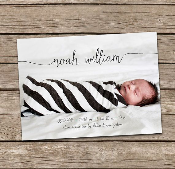 Birth Announcement : Jillian Baby Girl Script Custom by deanworks