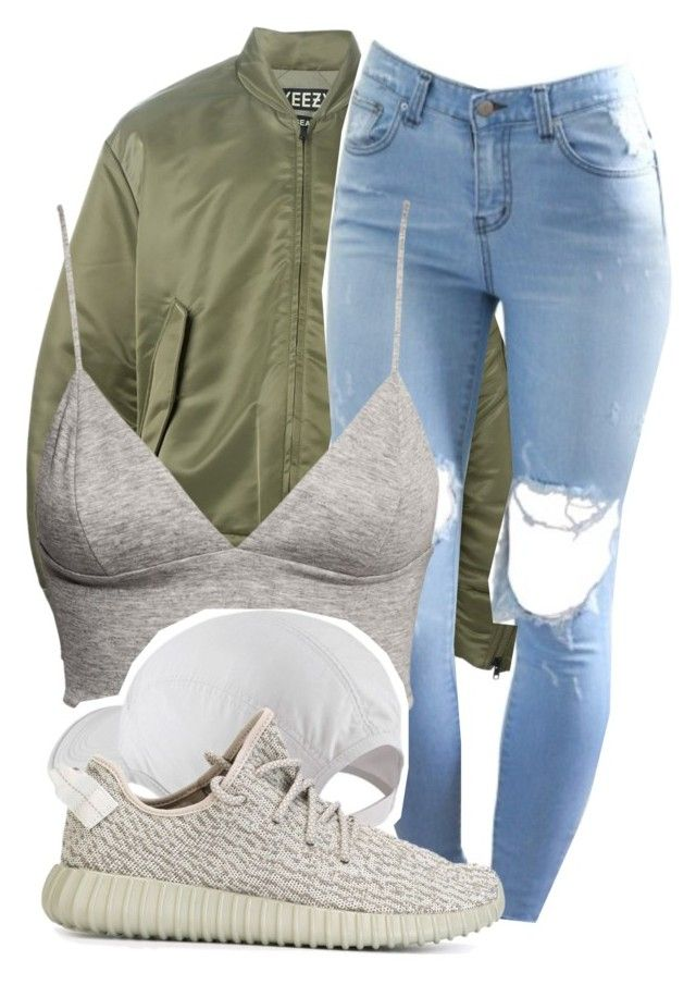 """Yeezy Fit"" by dajvuuloaf ❤ liked on Polyvore featuring adidas Originals, H&M and NIKE"
