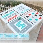 This has so much versatility. She used indoor vinyl so that she can change the 'game boards' as they grow! LOVE IT!!