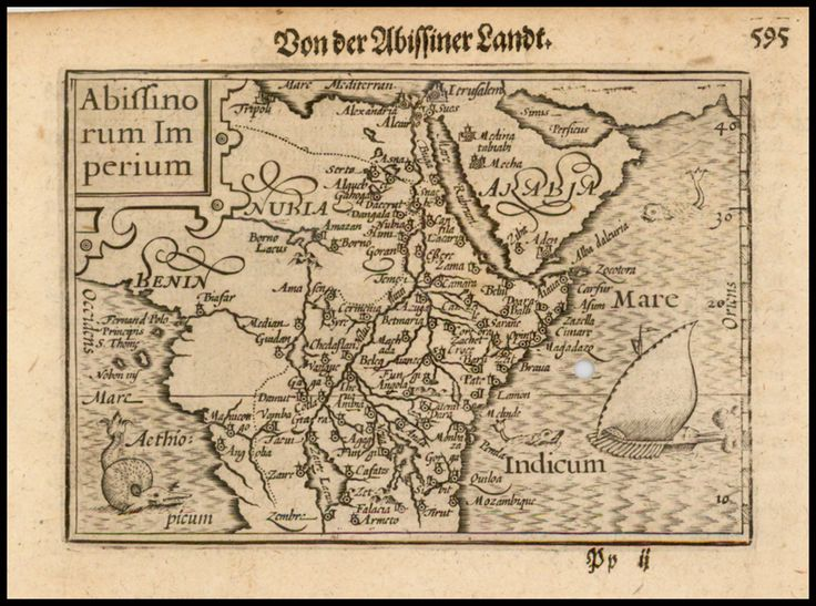 1612 Abyssinia, The Kingdom of Prester John by Langenes