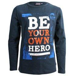 """Shirt met tekst """"Be your own Hero"""" voor maar 19,95! www.kieke-boe.nl"""