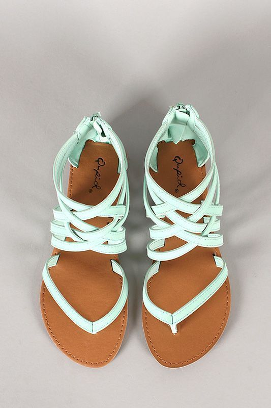 Lovely mint strapy summer sandals | Fashion City
